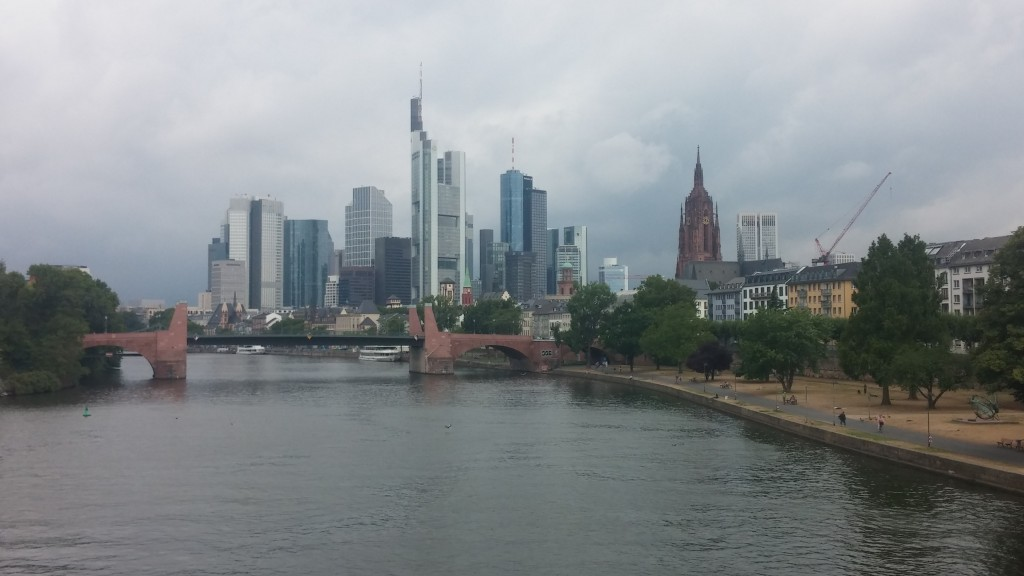 Erstes Ziel Frankfurt erreicht.