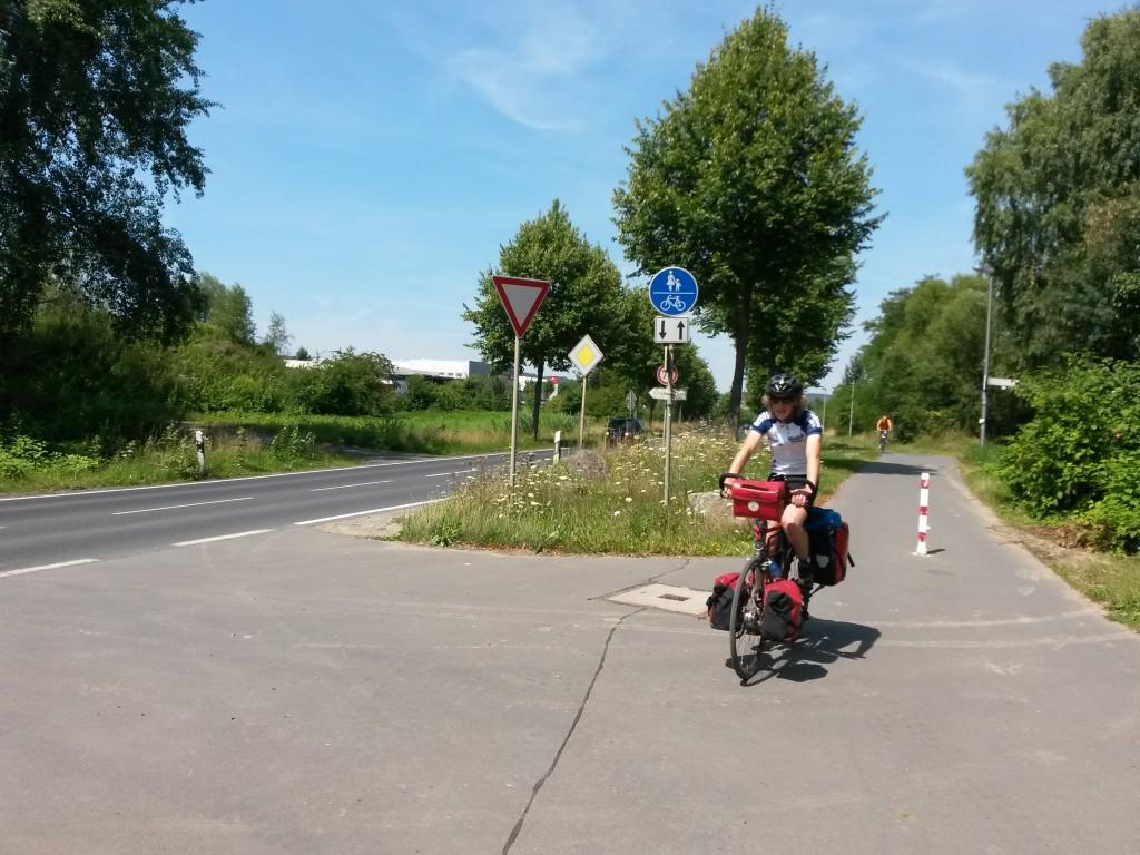 Die letzten Meter in Göttingen mit Papa